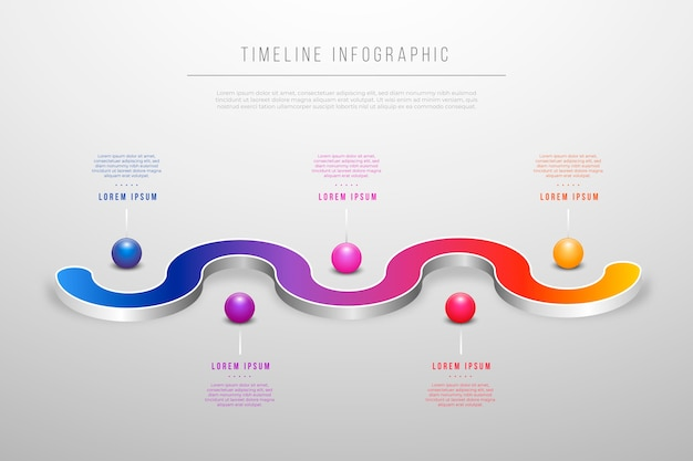 Szablon infographic osi czasu marketingu