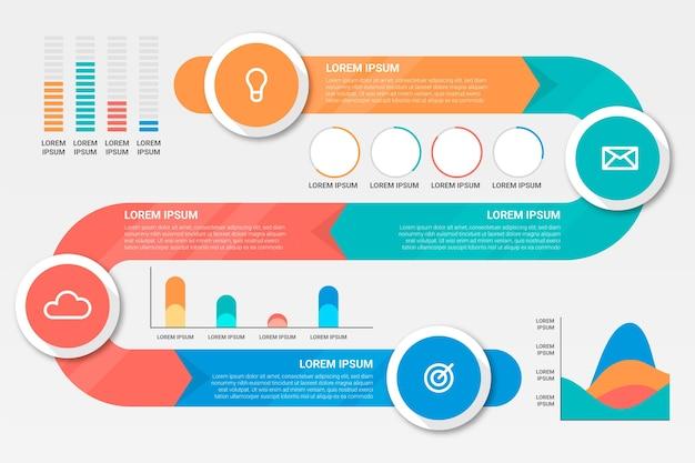 Szablon infographic osi czasu