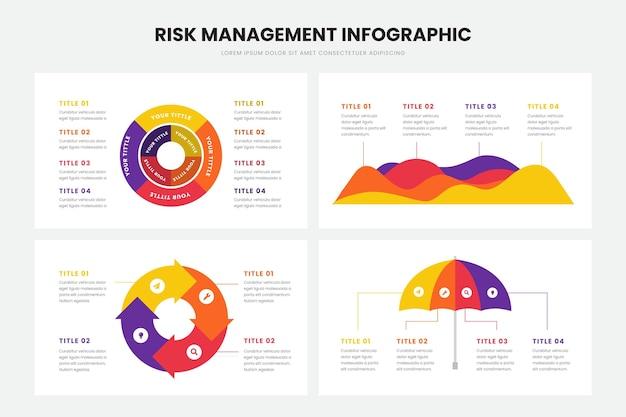 Szablon infographic zarządzania ryzykiem