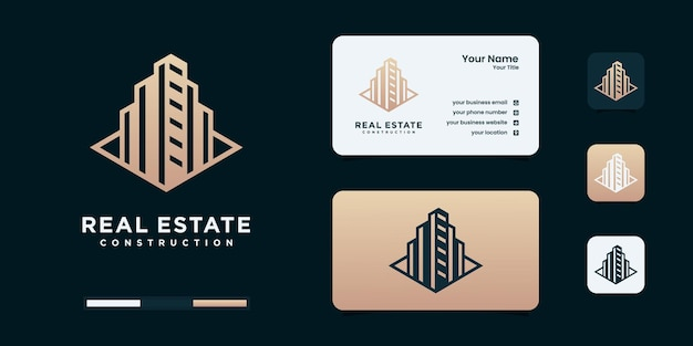 Szablon inspiracji projektu logo architektury budynku architektury