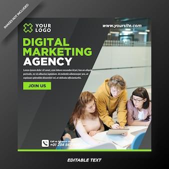 Szablon instagram agencji marketingu cyfrowego
