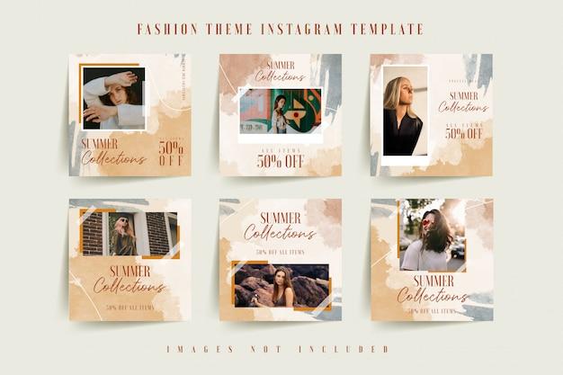 Szablon instagram dla biznesu online moda kobieta