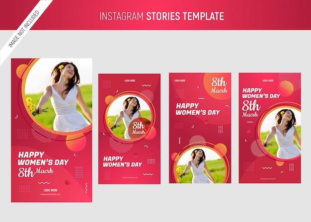 Szablon instagram międzynarodowy dzień kobiet