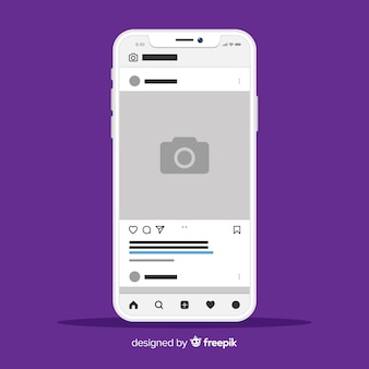 Szablon instagram ramka na zdjęcia na iphone
