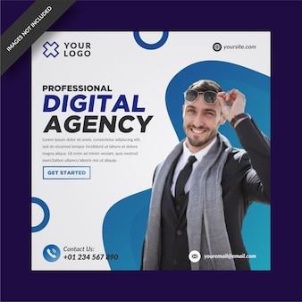 Szablon instagramu i mediów społecznościowych agencji marketingu cyfrowego