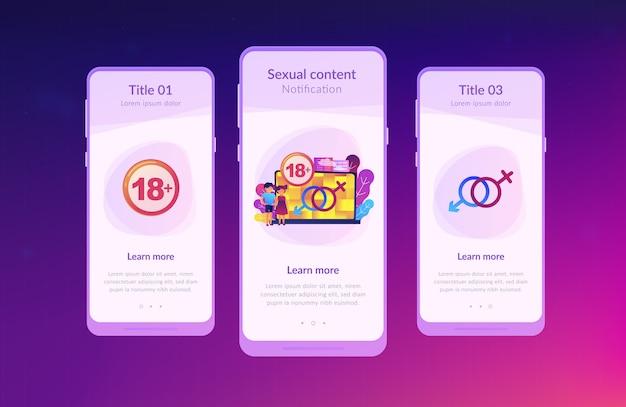 Szablon interfejsu aplikacji dla dorosłych.