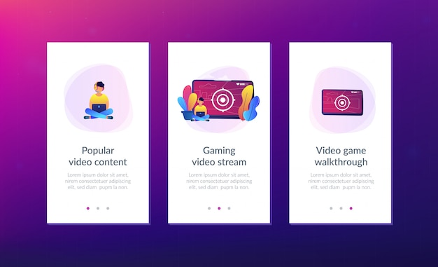 Szablon interfejsu aplikacji do gier wideo.