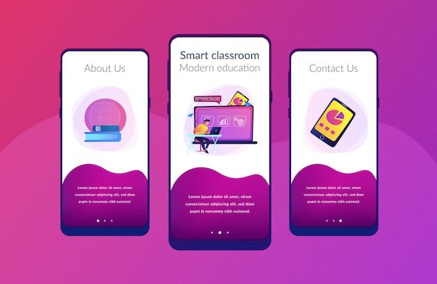 Szablon interfejsu aplikacji do nauki cyfrowej.