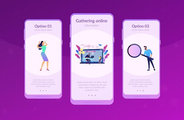 Szablon Interfejsu Aplikacji Doxing. Premium Wektorów