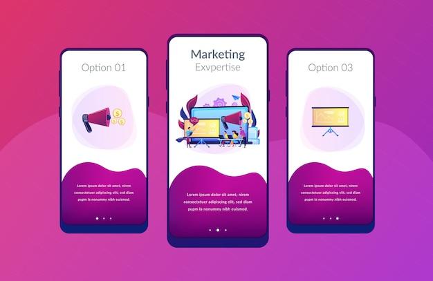 Szablon interfejsu aplikacji marketingowej spotkania.