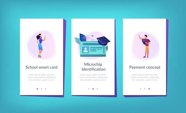 Szablon interfejsu aplikacji smartcards dla szkół.
