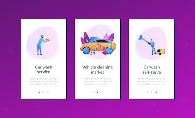 Szablon interfejsu aplikacji usługi myjni samochodowej