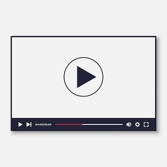 Szablon interfejsu odtwarzacza wideo dla aplikacji my i moile
