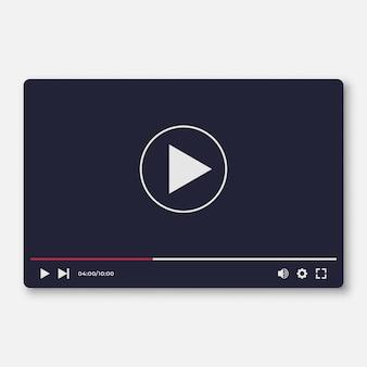 Szablon interfejsu płaskiego odtwarzacza wideo dla aplikacji my i moile