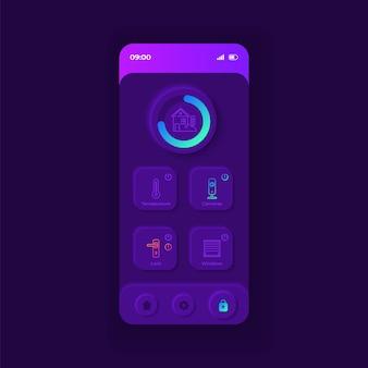 Szablon interfejsu smartfona aplikacji do nawigacji w transporcie miejskim