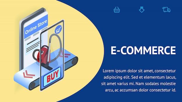 Szablon izometryczny e-commerce sklep gospodarstwa domowego