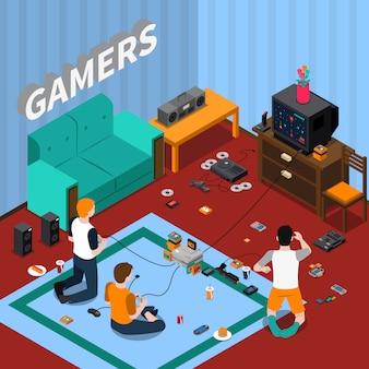 Szablon izometryczny gadżety do gier