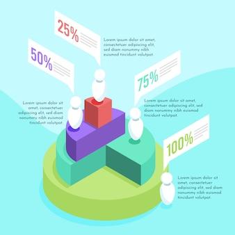 Szablon izometryczny infographic