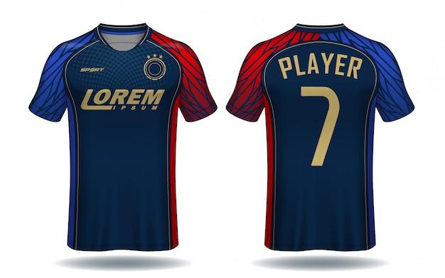 Szablon jersey piłka nożna. projekt koszulki sportowej.