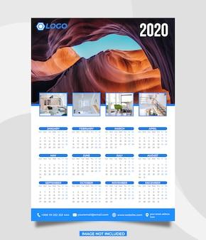 Szablon kalendarza 2020