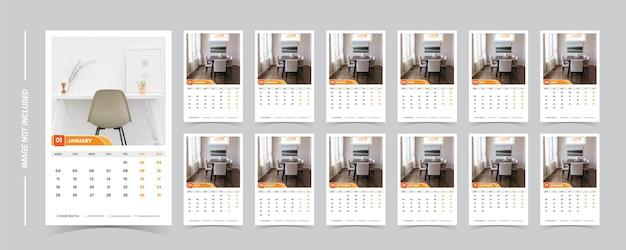Szablon kalendarza 2021 ze zdjęciem