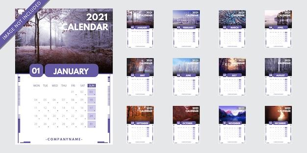 Szablon kalendarza 2021