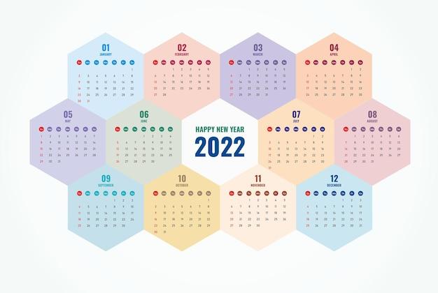 Szablon kalendarza 2022