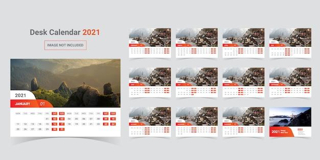 Szablon kalendarza biurkowego