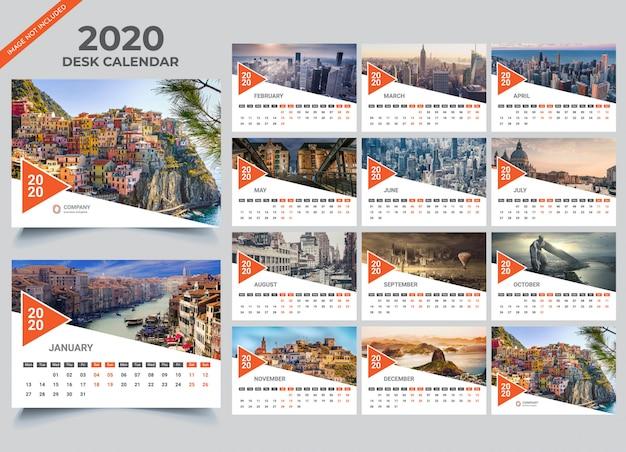 Szablon kalendarza na biurko