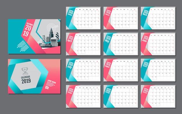 Szablon kalendarza na rok 2019
