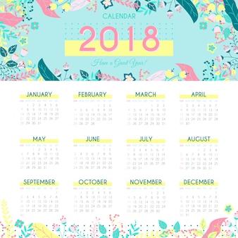 Szablon kalendarza natura 2018