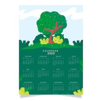 Szablon kalendarza natura 2020