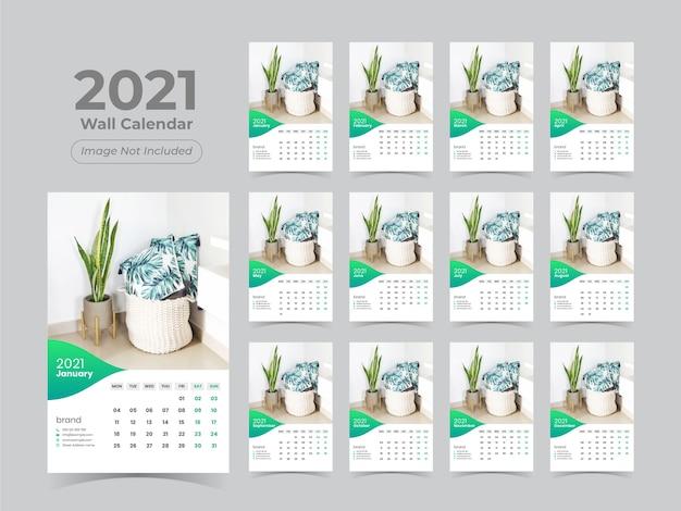 Szablon kalendarza ściennego