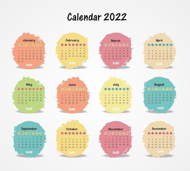 Szablon kalendarza zabawny i czysty