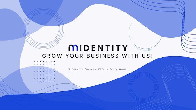 Szablon kanału biznesowego youtube