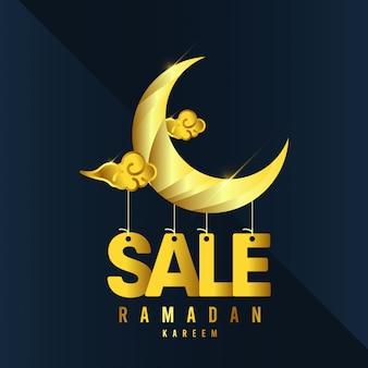 Szablon kareem ramadan. ilustracja w pełnym kolorze.