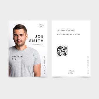Szablon kart identyfikacyjnych w minimalistycznym stylu