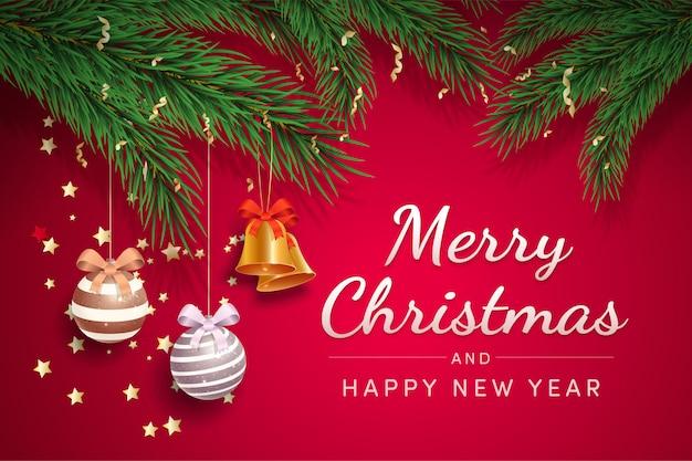 Szablon kartki świąteczne pozdrowienia wektor