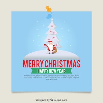 Szablon kartki świąteczne z santa claus