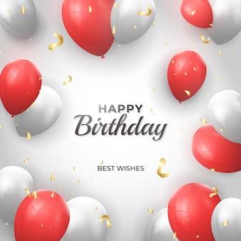 Szablon kartki urodzinowej dla dzieci ze zdjęciem premium vector
