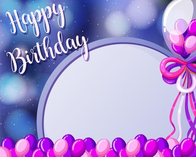 Szablon kartki urodzinowej