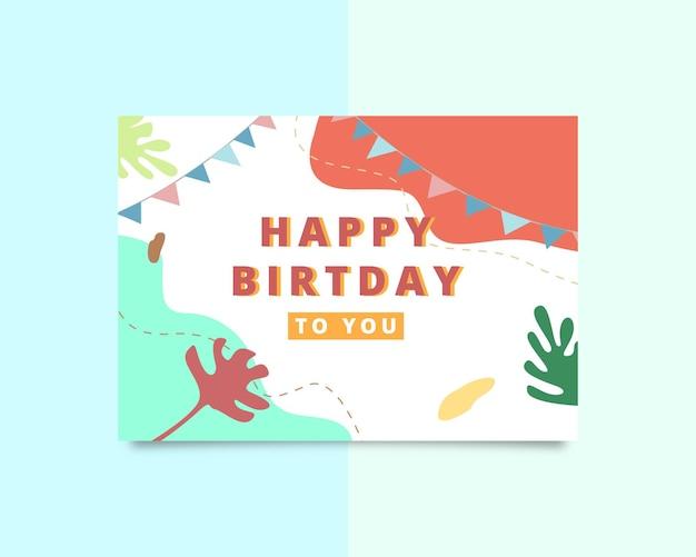 Szablon kartki z życzeniami z okazji urodzin