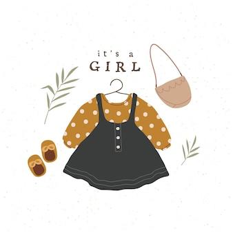 Szablon karty baby shower dla dziewczynki przedszkole plakat dekoracyjny do pokoju dziecięcego urodziny zaproszenie