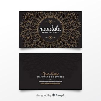 Szablon karty biznesowej mandali