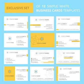 Szablon karty busienss code. edytowalne logo creative i wizytówka