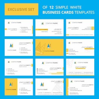 Szablon karty busienss. edytowalne logo creative i wizytówka