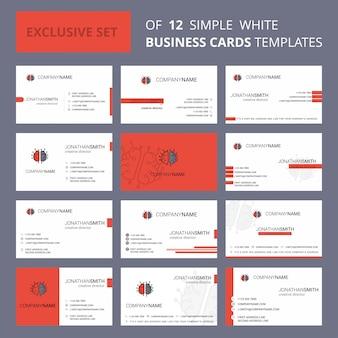 Szablon karty busienss procesora mózgu. edytowalne logo creative i wizytówka