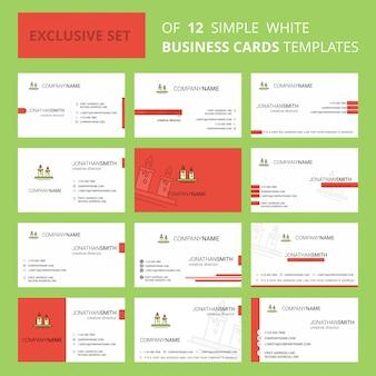 Szablon karty busienss świece. edytowalne logo creative i wizytówka