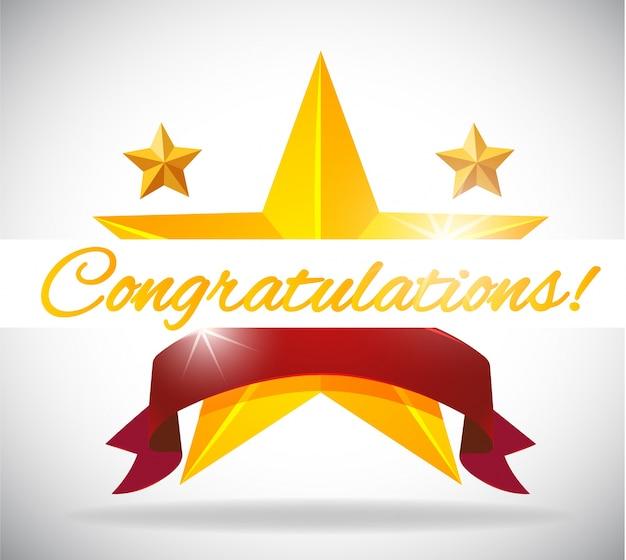 Szablon karty dla congratulation z gwiazdami tła