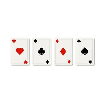 Szablon karty do gry w kasynie pokera